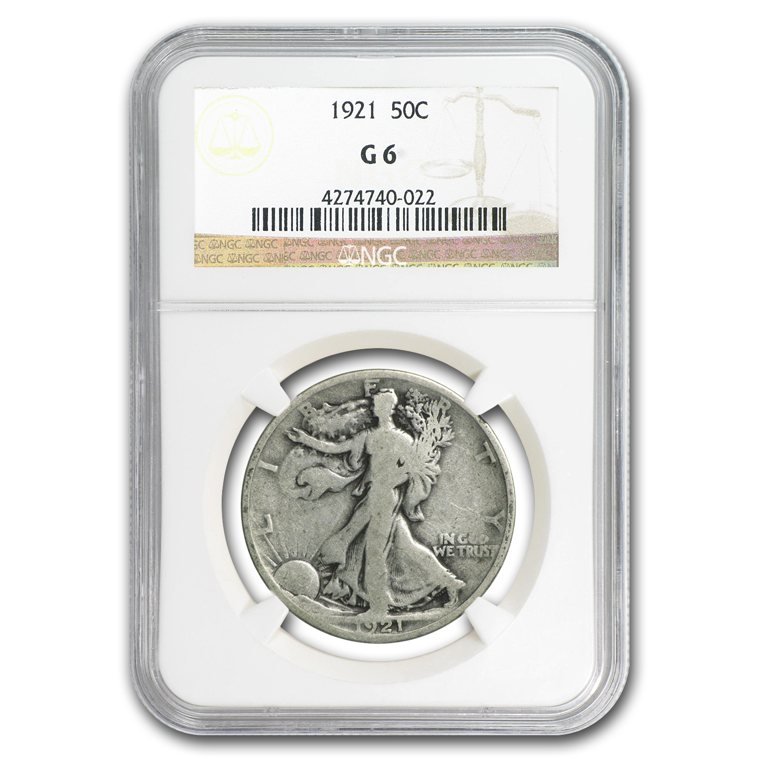 1921 Walking Liberty Half Dollar G-06 NGC